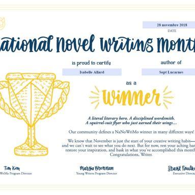 Certificat gagnant