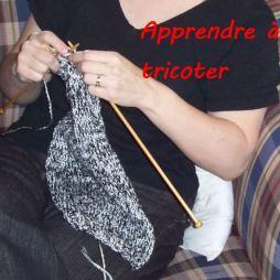 image apprendre à tricoter